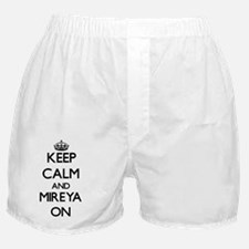 Keep Calm and Mireya ON Boxer Shorts