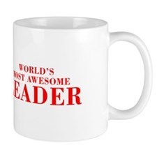WORLDS MOST AWESOME Leader-Bod red 300 Mugs