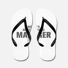 WORLDS MOST AWESOME Manager-Akz gray 500 Flip Flop