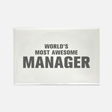 WORLDS MOST AWESOME Manager-Akz gray 500 Magnets