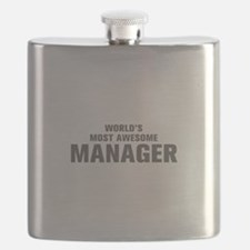 WORLDS MOST AWESOME Manager-Akz gray 500 Flask