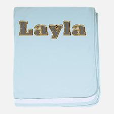 Layla Gold Diamond Bling baby blanket