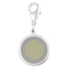 Flower of Life Yellow/Grey Charms