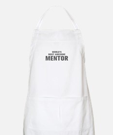 WORLDS MOST AWESOME Mentor-Akz gray 500 Apron