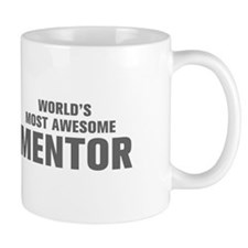 WORLDS MOST AWESOME Mentor-Akz gray 500 Mugs