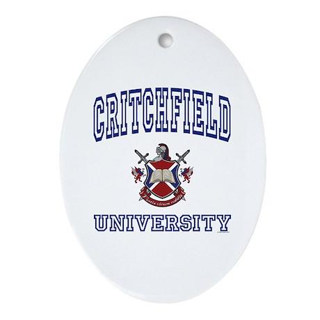 CRITCHFIELD University Oval Ornament