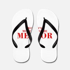 WORLDS MOST AWESOME Mentor-Bod red 300 Flip Flops