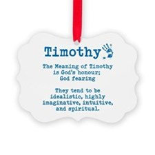 The Meaning of Timothy Ornament