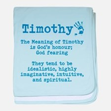 The Meaning of Timothy baby blanket