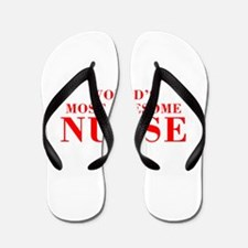 WORLDS MOST AWESOME Nurse-Bod red 300 Flip Flops