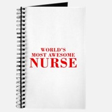 WORLDS MOST AWESOME Nurse-Bod red 300 Journal