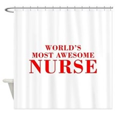 WORLDS MOST AWESOME Nurse-Bod red 300 Shower Curta