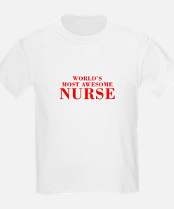 WORLDS MOST AWESOME Nurse-Bod red 300 T-Shirt