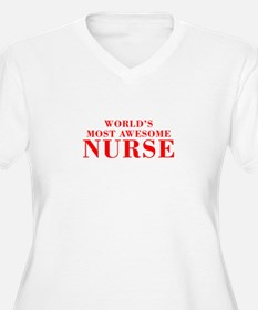 WORLDS MOST AWESOME Nurse-Bod red 300 Plus Size T-