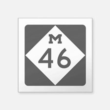 "M-46, Michigan Square Sticker 3"" x 3"""