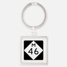M-46, Michigan Square Keychain
