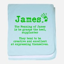The Meaning of James baby blanket
