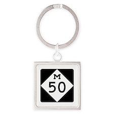 M-50, Michigan Square Keychain