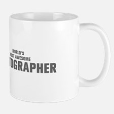 WORLDS MOST AWESOME Photographer-Akz gray 500 Mugs