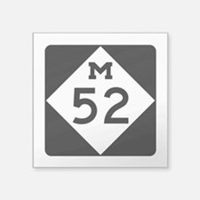 "M-52, Michigan Square Sticker 3"" x 3"""