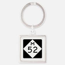 M-52, Michigan Square Keychain