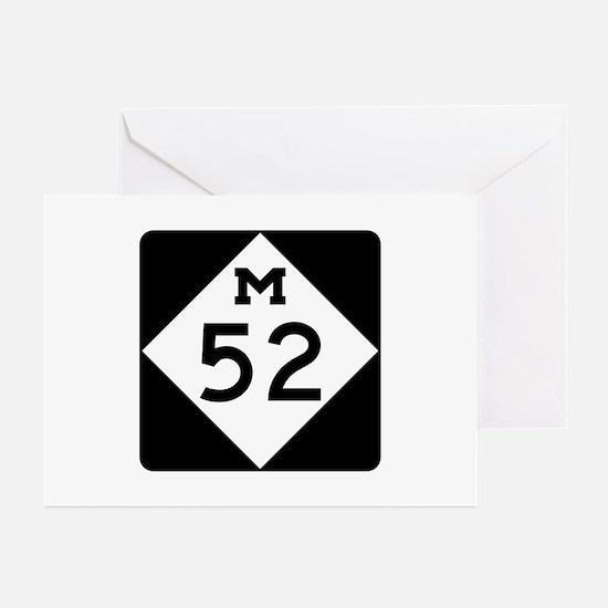 M-52, Michigan Greeting Cards (Pk of 10)