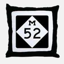 M-52, Michigan Throw Pillow
