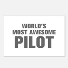 WORLDS MOST AWESOME Pilot-Akz gray 500 Postcards (