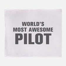 WORLDS MOST AWESOME Pilot-Akz gray 500 Throw Blank