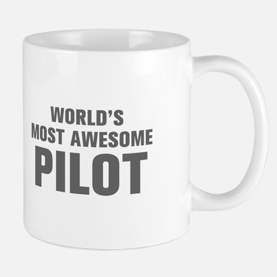 WORLDS MOST AWESOME Pilot-Akz gray 500 Mugs