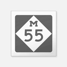 "M-55, Michigan Square Sticker 3"" x 3"""