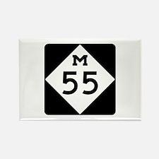 M-55, Michigan Rectangle Magnet