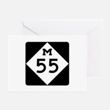 M-55, Michigan Greeting Cards (Pk of 10)