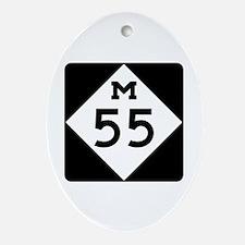 M-55, Michigan Ornament (Oval)
