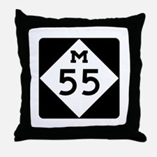 M-55, Michigan Throw Pillow