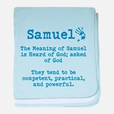 The Meaning of Samuel baby blanket