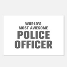WORLDS MOST AWESOME Police Officer-Akz gray 300 Po