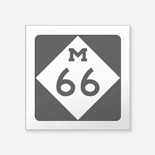 "M-66, Michigan Square Sticker 3"" x 3"""