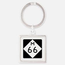 M-66, Michigan Square Keychain