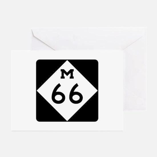M-66, Michigan Greeting Cards (Pk of 10)