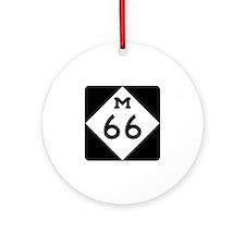 M-66, Michigan Ornament (Round)