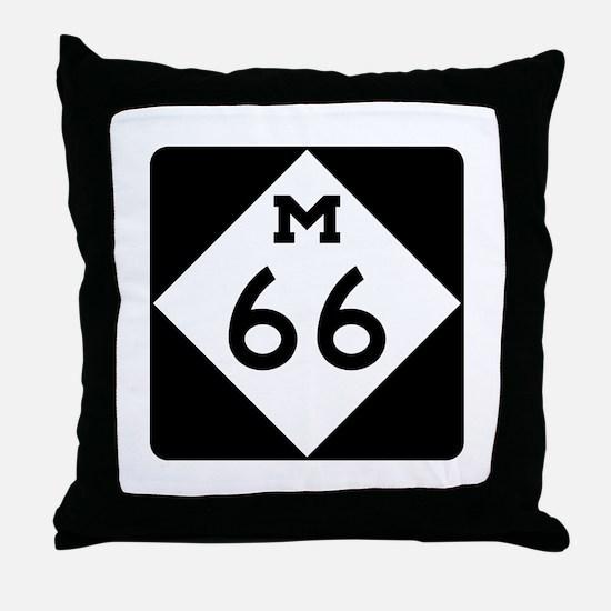 M-66, Michigan Throw Pillow