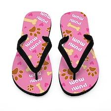 Pumi dog Mom Gift Flip Flops