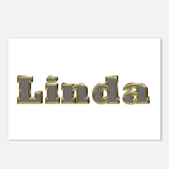 Linda Gold Diamond Bling Postcards 8 Pack