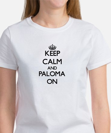 Keep Calm and Paloma ON Women's Cap Sleeve T-Shirt