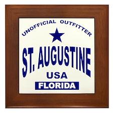 Saint Augustine Framed Tile