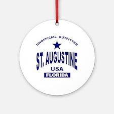 Saint Augustine Ornament (Round)