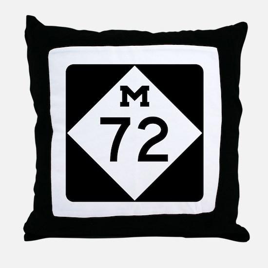 M-72, Michigan Throw Pillow