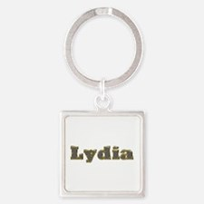 Lydia Gold Diamond Bling Square Keychain