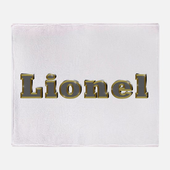Lionel Gold Diamond Bling Throw Blanket